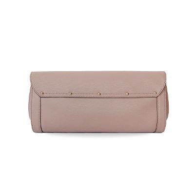 bamboo clutch bag pink